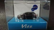 TOYOTA Vitz  Yaris LED Light Keychain Purple Metallic Pull Back Model Car