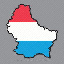 Etiqueta engomada de la bandera de mapa de Luxemburgo-Coche-Laptop-Macbook Notebook - 2956