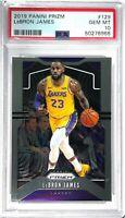 LEBRON JAMES 2019 PANINI PRIZM #129 PSA 10 GEM MINT NBA BASKETBALL TRADING CARD