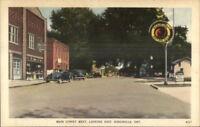 Kingsville Ontario Indian Gas Gasoline Station Sign Vintage Postcard jrf