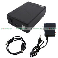 Black 12V 9800mAh Power Rechargeable Li-ion Battery for Camping Phone Charging