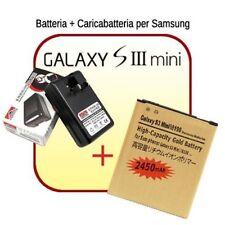 CARICA BATTERIE+PILA ORO 2430MAH per SAMSUNG GALAXY S3 MINI GT I8190 USB 220V