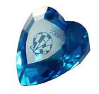 Swarovski Crystal 2006 SCS Blue Heart Figurine #0844184 Austria Orig Box