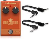New TC Electronic Iron Curtain Noise Gate Effects Pedal w/ Patch cables.