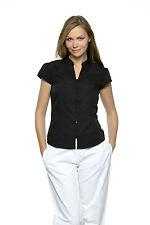 Figurbetonte Hüftlang Damenblusen,-Tops & -Shirts im Blusen-Stil mit Baumwollmischung