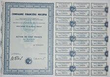 Action - Compagnie Financière MOCUPIA, action de 100 Frs N° 008230