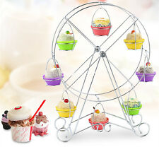 8-Cup Rotating Ferris Wheel Cupcake Party Stand Muffin Holder Rack Wedding Decor