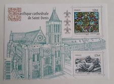Timbre Bloc Feuillet 2015 Basilique Cathedrale De Saint De Denis  ètat neuf
