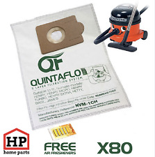 80x Numatic Henry Hetty James Vacuum Cleaner Hoover Bags+Fresheners Microfleece