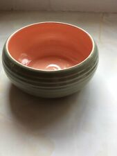 More details for vintage lovatts pottery green pink bowl stoneware 1920s 1930s diameter 17cm