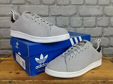 ADIDAS MENS UK 7 EU 40 2/3 GREY WHITE KNIT STAN SMITH TRAINERS RRP £95