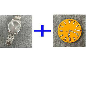 For NH35/NH36 39MM Oyster Perpetual Sapphire Glass Watch Case Strap Dial Needle