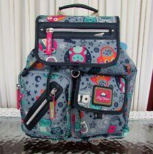 Lily Bloom Night Owl Print Riley Drawstring Backpack Sling Travel School Bag