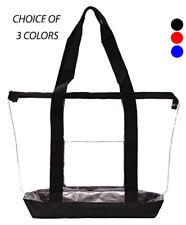 Clear Tote Bag Plastic Transparent Purse Handbag Zipper Security Event Stadium
