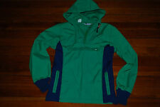 Vintage Men's Woolrich Green & Blue Hooded Jacket (Small)