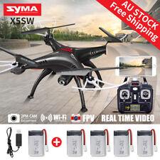 5 Batteries Syma X5SW FPV 2.4G 4CH RC Quadcopter Drone Wifi HD Camera +USB Cable