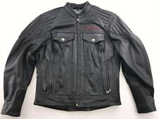 HARLEY DAVIDSON WOMEN'S RIBBED VROD LEATHER RIDING JACKET SMALL 97091-02VW