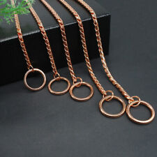 Rose Gold Stainless Steel Dog Choke/Check Chain Collars Slip Pet Show Necklace