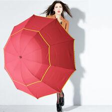 "62"" Arc Unisex Extra Large Double Golf Rain Umbrella Alloy Skeleton Umbrella"