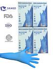 100/box Blue Nitrile Gloves Powder/Latex Free Medical Exam Grade Gloves [S M L]