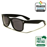 Polarised Retro Sunglasses - Gloss Black Finish - Mens / Womens - Polarized Lens