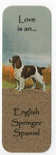 ENGLISH SPRINGER SPANIEL BEAUTIFUL DOG BOOKMARK SAME IMAGE BOTH SIDES GREAT GIFT
