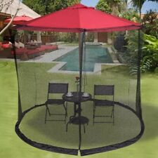 10 FT Umbrella Table Screen Cover Mosquito Netting Mesh Screen with Zipper LSK99