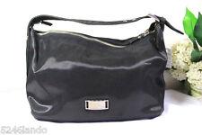 Vintage Jean Paul Gaultier Black Coated Canvasy Small Hobo Shoulder Bag