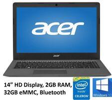 "Acer Aspire AO1-431-C8G8 14"" Laptop Intel Celeron N3050 2GB DDR3 32G Emmc Win10"