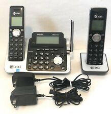 AT&T DECT 6.0 Wireless 2 Handset Home Phone Answering System CL83451 Tested