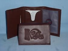 New York NY GIANTS  Leather TriFold Wallet  NEW  dkbr m