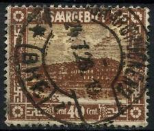 Saar 1922 SG#91, 40c Pottery Mettlach Used #D14722