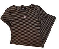 Stussy Women Mini Dress Tshirt Dress Black Metalic Size 6