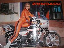 Prospekt Sales Brochure Zündapp K 80 GTS 50 Mokick Moped Motorrad  автомобиль