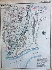 ORIGINAL 1928, ARROW HEAD INN, RIVERDALE, SPUYTEN DUYVIL, BRONX, NY ATLAS MAP