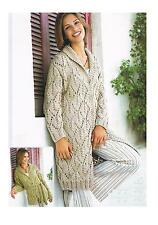 Ladies Lacy St Cardigan Jacket Knitting Pattern PATTERN ONLY 32-42 in Chunky