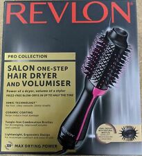 GENUINE REVLON PRO COLLECTION SALON ONE-STEP HAIR DRYER AND VOLUMISER DR5222