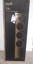 Polk Audio T50 Floorstanding Tower Speaker black oak finish integrated base