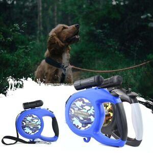 50KG 5/8M Large Dog Lead Leash Strong Lockables Tapes Retractable Extendable