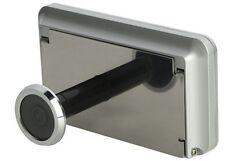 "3.2"" Peephole Digital Door Camera -High Resolution Screen Wireless Silver color"