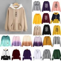 Women Warm Hoodie Sweatshirt Ladies Hooded Sweater Coat Jumper Pullover Tops UK