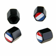 4Pcs Car Valve Wheel Tire Stem Caps Cover French Flag Universal Stainless steel