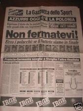 GAZZETTA DELLO SPORT 8/07/1982 CAMPIONATO DEL MONDO