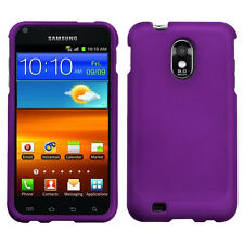 SAMSUNG EPIC 4G TOUCH D710 SPRINT PCS GALAXY S2 R760 HARD CASE RUBBER PURPLE