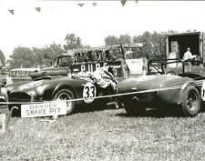 Vintage 8 X10 1963 Road America Cobra Snake Pit in Paddock Auto Racing Photo