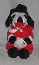 BIG DOG Dressed Like Christmas CAROLER Stuffed Animal Decoration New