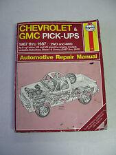 HAYNES #420 Automotive Repair Manual Book for 1967-1987 CHEVROLET & GMC PICKUPS