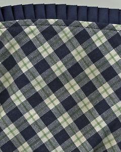 Longaberger 04 Crafting Blue Ribbon Plaid Fabric Liner