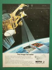 6/1986 PUB MATRA SATELLITE SPOT ESA CNES TELEDETECTION ESPACE ORIGINAL AD
