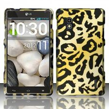 AT&T LG Optimus G E970 Rubberized HARD Case Snap On Phone Cover Cheetah